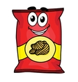 Cartoon potato chips character vector image vector image