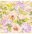 Gentle Spring Floral Seamless Background vector image