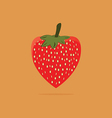 Fresh red strawberry on orange background vector image