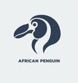 African Penguin Logo vector image