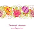 Easter eggs pattern vector image