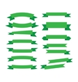 green ribbons on white vector image