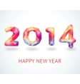 Happy New Year 2014 colorful greeting card vector image