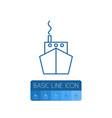isolated vessel outline ship element can vector image