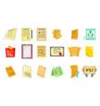 paper icon set cartoon style vector image