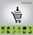 add to shopping cart sign  black icon at vector image