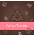 Christmas tree on the brown background vector image vector image