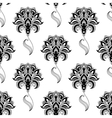 Calligraphic vintage floral seamless pattern vector image