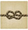 Marine knot background vector image