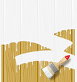 Painted wood vector image vector image