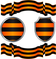 georgievsky ribbon and shields vector image vector image