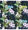 Watercolor pattern reptiles chameleon vector image