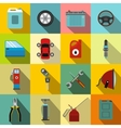 Car service maintenance icons set vector image