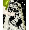 Dj and vinyl disc Vector Image