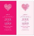 Wedding invite cards vector image vector image