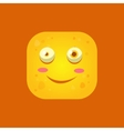 Smiling Yellow Monster Emoji Icon vector image