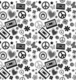 Flower power background vector image