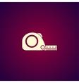 Tape measure icon Roulette construction simbol vector image