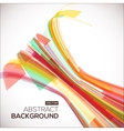 Abstract colorful red geometric background 3D vector image
