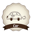 car design vector image