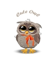 Cute owl in a hat vector image