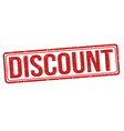 discount grunge rubber stamp vector image