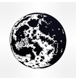 drawing of full moon vector image