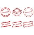 Exclusive stamps vector image
