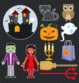 Halloween Set 001 vector image
