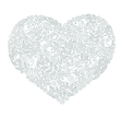 hand draw ornate floral Heart Shape vector image