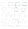 Hand drawn colorful design elements collection vector image