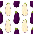pattern with eggplant vector image