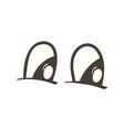 tragic comic eyes expression vector image