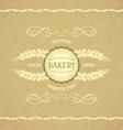 Vintage design for decoration bakery vector image