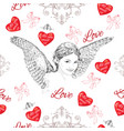 Vintage romantic seamless pattern vector image