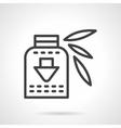 Vitamins syrup black line design icon vector image