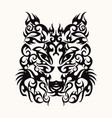 wolf head art tattoo design tribal vector image