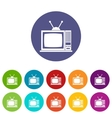 Retro TV set icons vector image