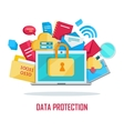 Data Protection Banner vector image