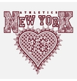 New York T-shirt fashion Typography vector image