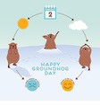 Groundhog Day Infographic with cute groundhogs vector image