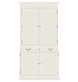 White vintage cabinet vector image vector image