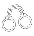 chain handcuffs icon vector image