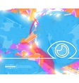 Creative eye Art template vector image