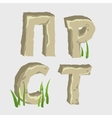Four letters from the middle of Russian alphabet vector image