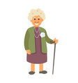 grandmother with a cane vector image