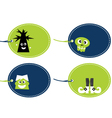 Halloween funny tags set isolated on white vector image