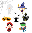 Halloween Kid Set vector image