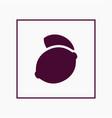 lemon icon simple fruit vector image