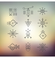 Line shapes geometry vector image